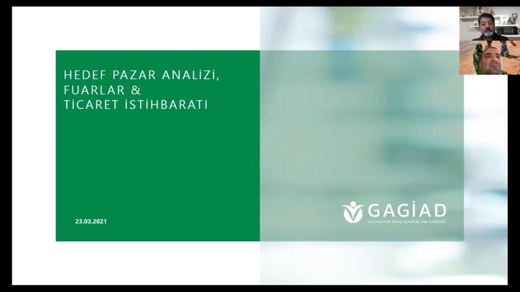 ''HEDEF PAZAR ANALİZİ VE TİCARET İSTİHBARATI''  WEBİNARI